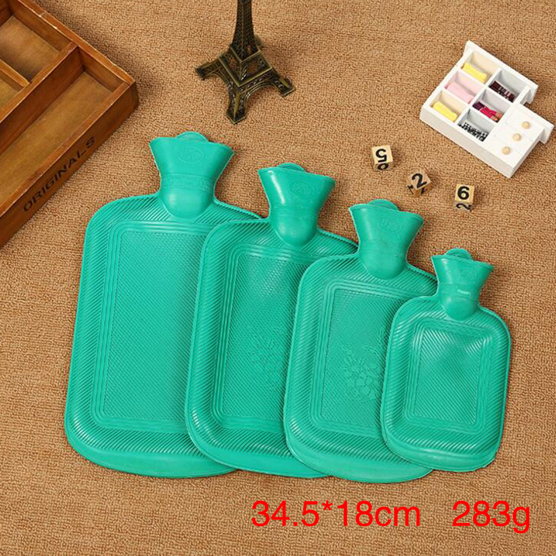 Hot Water Bottle Thick High Density Rubber Hot Water Bag Hand Warming Water Bottles Winter Hot Water Bags Bottle random color hot winter