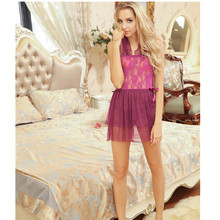 Printed Plus Size Lounge Sexy Pajamas Women Elegant Sleepshirts Sexy Nightgowns