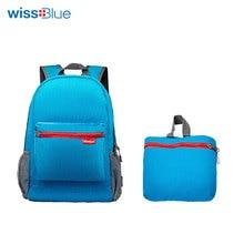 WissBlue Összecsukható hátizsák Sport férfi utazási hátizsák Női Ultralight hátizsák Outdoor Szabadidő Iskola Hátizsák Táska 3 Színek