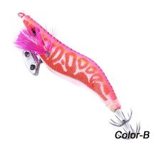 AOrace 1PC 11.5cm/14.25g Squid Fishing Lures Luminous Jig Hooks Wood Shrimp Hard Glow Bait Lure FishArtificial Spinner Lure(China)
