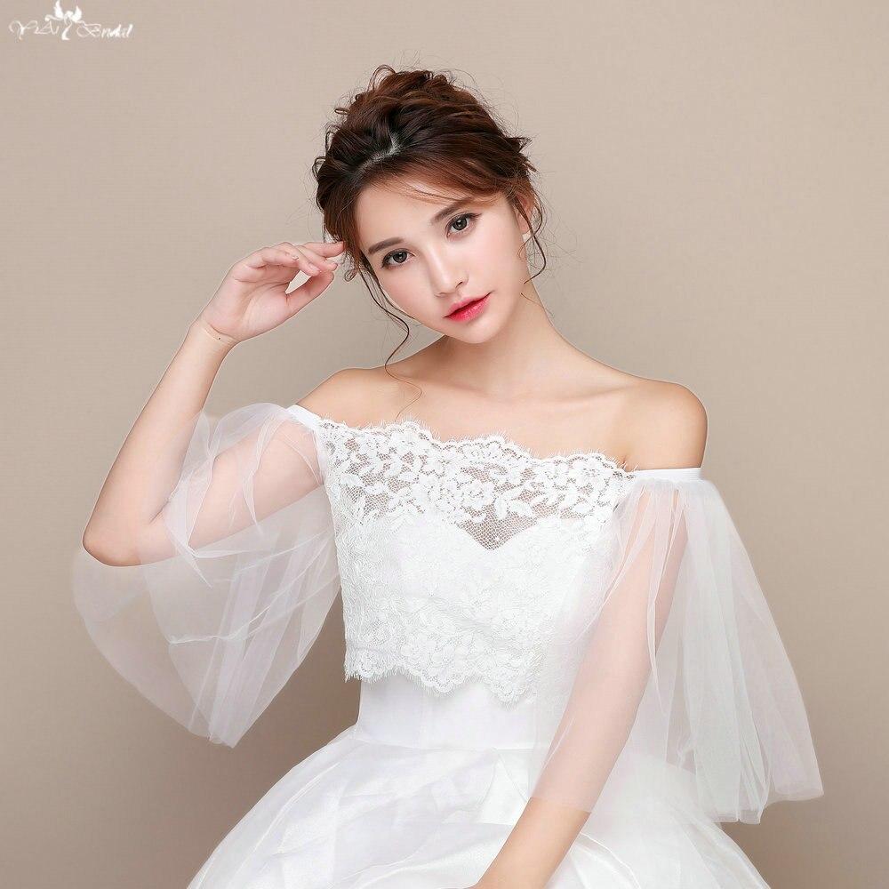 TA129 Wedding Jacket Cap Lace Sleeve  Bolero For Evening Party Wedding Jacket