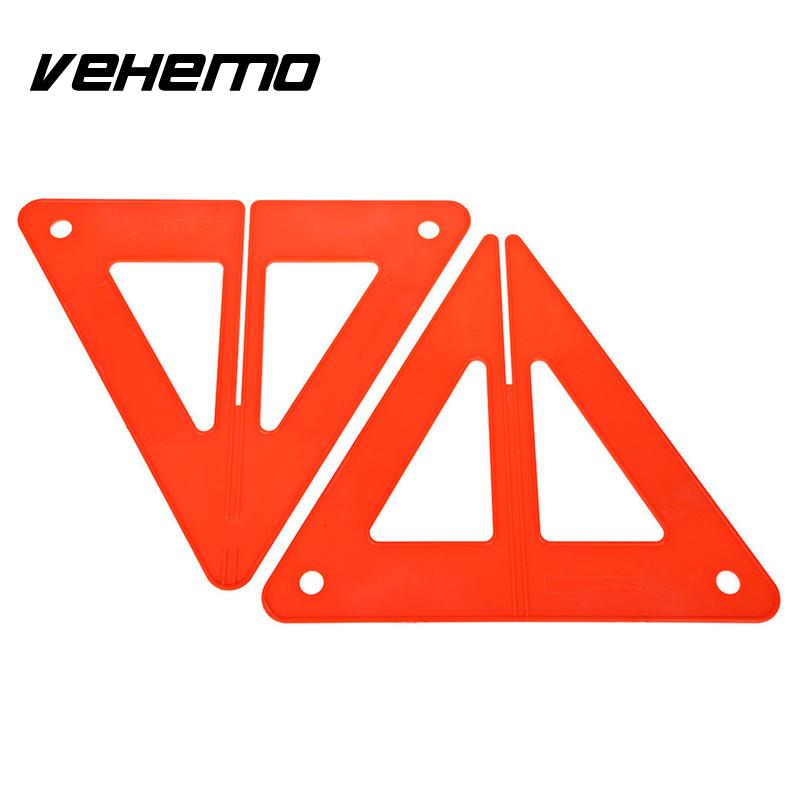 Vehemo Plastic Warning Board Car Accessories Stop Sign Portable Safety Sign Car Breakdown Road Safety