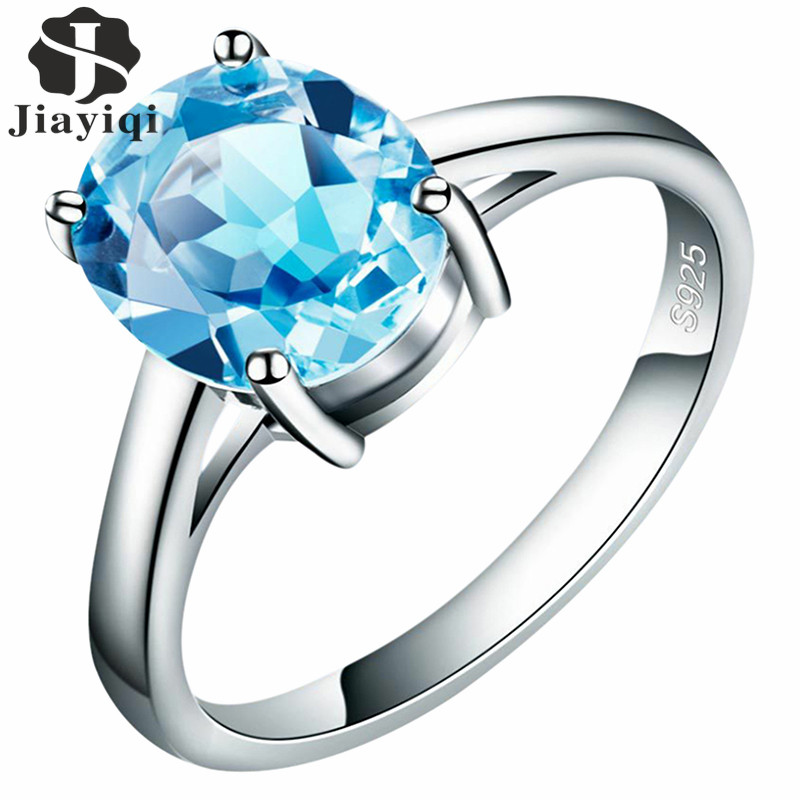 2017 Luxury Blue Australian Cubic Zirconia Finger Rings Rose Gold Color Fashion Brand Crystal Jewelry For Women Party