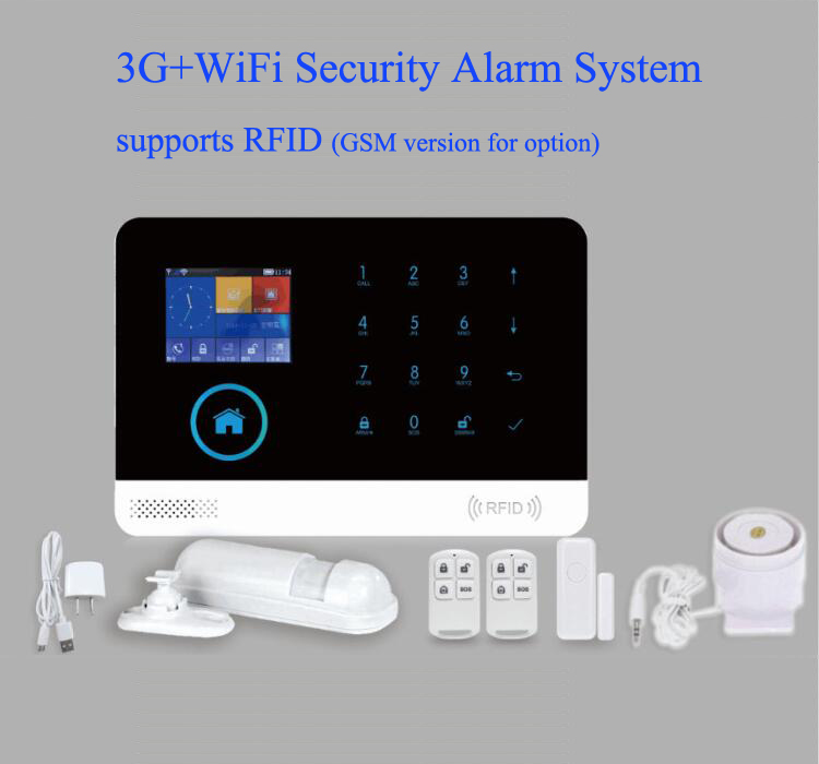 New arrival 3G WIFI alarm system 2 4 inch TFT display screen APP controlled home alarm