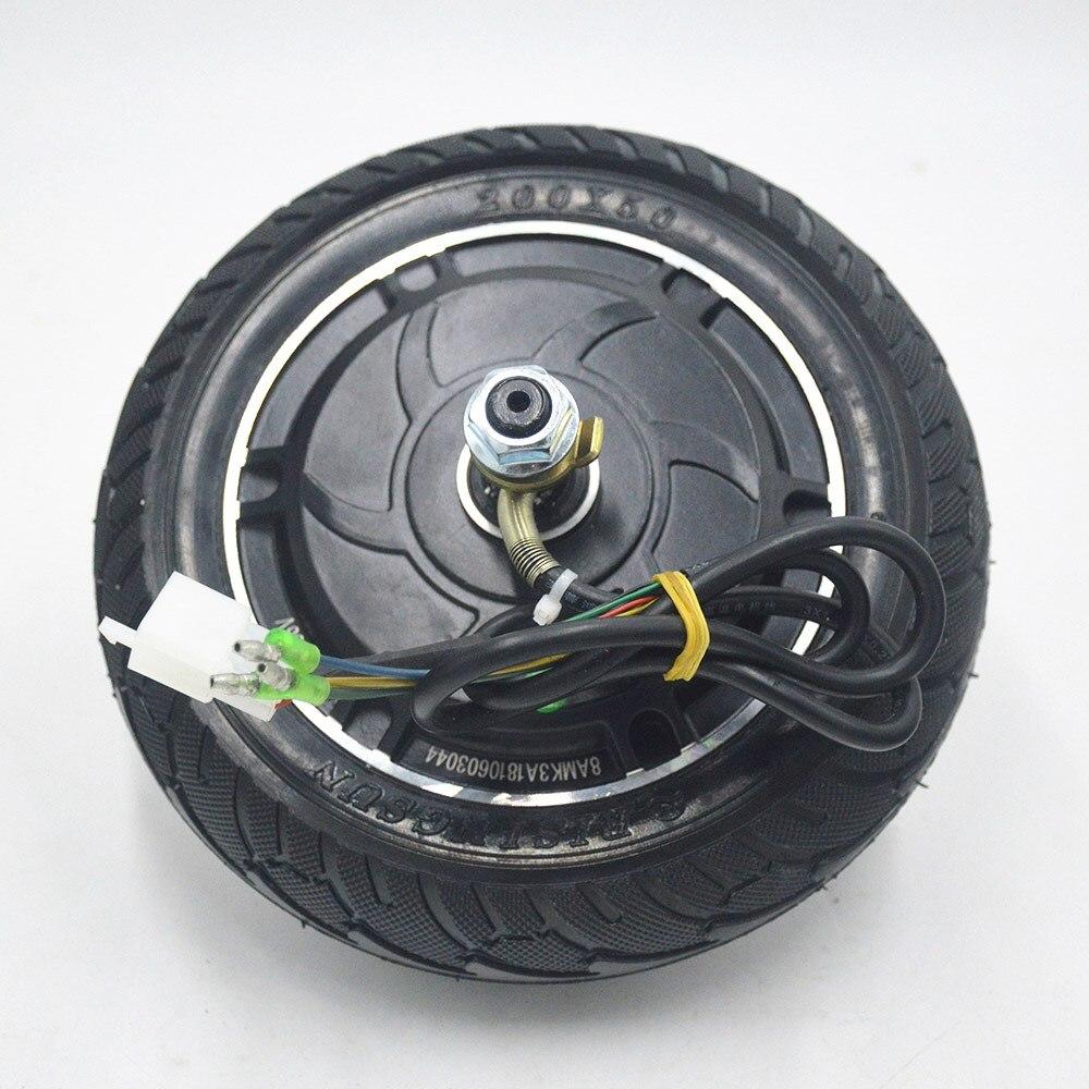 Moteur électrique de roue de moteur de moyeu de scooter sans brosse de moteur de Scooter pour 24 V 36 V 48 V 350 W Scooter électrique/Mini SCOOTER roue de 8 pouces