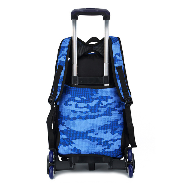 Kids boys girls Trolley Schoolbag Luggage Book Bags Backpack Latest Removable Children School Bags With 2/6 Wheels Stairs School Bags