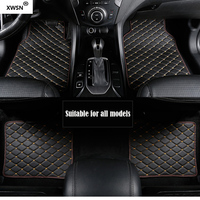 Universal car floor mats for bmw all models g30 e90 f01 f10 f11 f25 f30 x1 x3 f25 x5 f15 e34 e60 e65 e70 e83 leather car mats