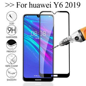 Перейти на Алиэкспресс и купить Защитное стекло для экрана Y6, закаленное стекло для Huawei Y6, 2019, MRD-LX1 MRD-LX1F Y 6 6Y Y6Pro, защитная пленка для экрана, 2019