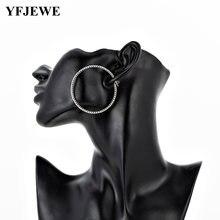 Модные новые золотые большие круглые серьги кольца yfjewe для