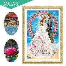 3D DIY алмаз Вышивка, 5D алмазной живописи, алмазы Мозаика Свадебные Любовь полный горный хрусталь вышивка крестиком, Новогодние товары, декор, подарок