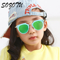 Fashion Boys&Girls Sunglasses Brand Designer Kids Sun Glasses For Baby Children Colorful-Lens Anti-Reflective Oculos YQ033