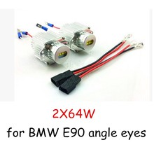 64WX2 Xenon White LED Marker Angel Eyes car headlight for BMW E90 car accessory new arrival hot