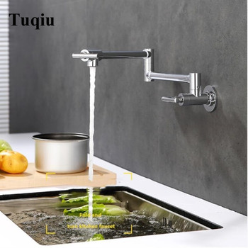 Foldable Kitchen Sink Mixer Tap Brass Black Chrome Finished Single Cold Wall Mounted Foldable Basin Faucet Sink Tap Buy At The Price Of 63 76 In Aliexpress Com Imall Com