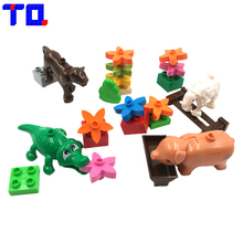 TQ 4 Style Large Particle Building Blocks Enlighten Kids Toys Animals DIY The Zoo Set Plastic Brick Compatible With Legoe Duplo