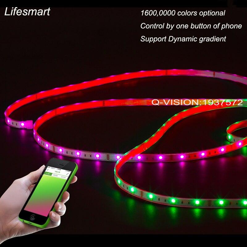 ФОТО Lifesmart New LED Light Strip Wireless Control by Phone16 Million Colors RGB Dimmable Smart Home Illumination 433MH Customerized
