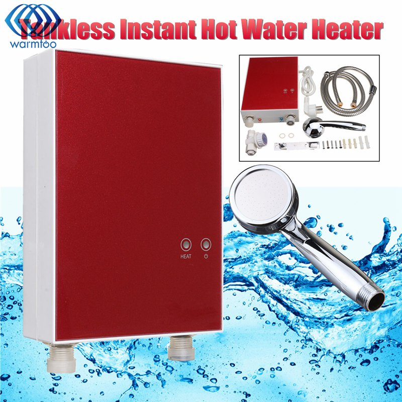 Electric Water Heater Home Kitchen Tankless Boiler System Instantaneous 220V 3500W LCD Digital Under-sink Electricity Saving atwfs tankless water heater 220v 5500w thermostat digital electric heater kitchen