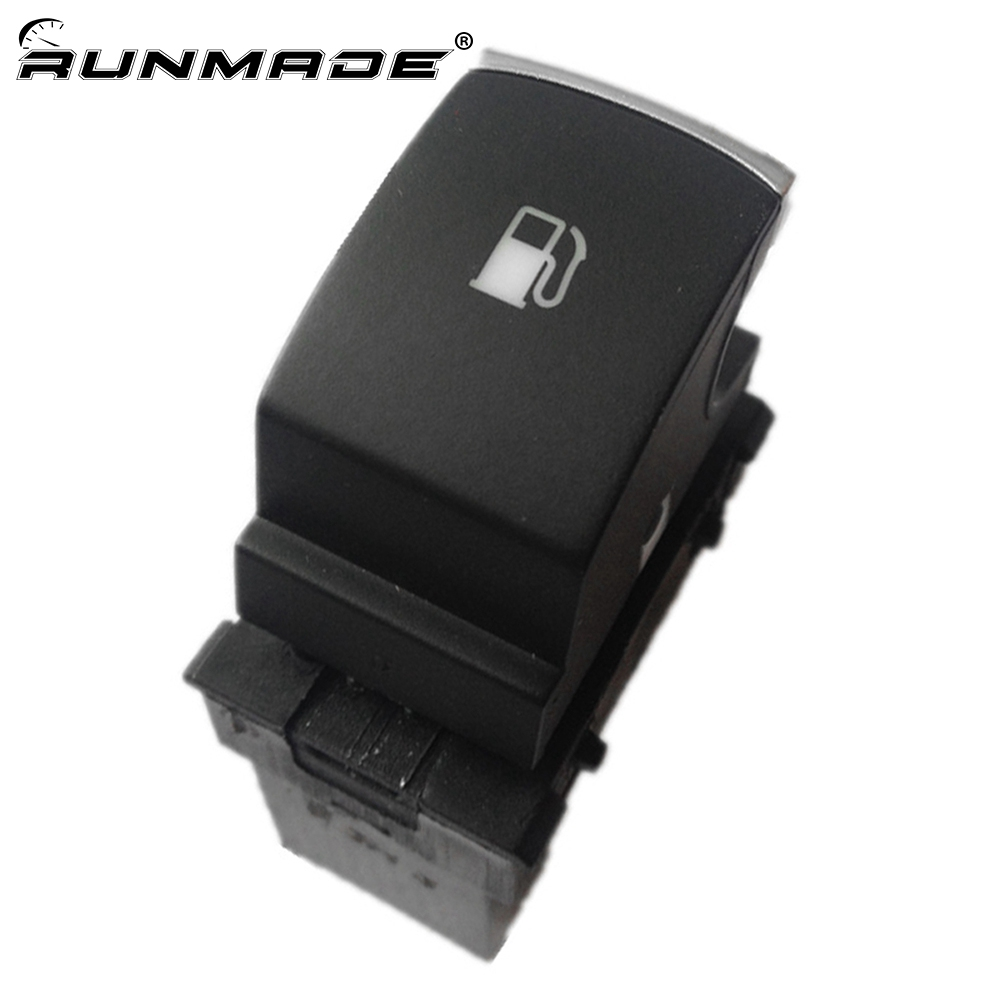 runmade Chrome Fuel Tank Gas Door Release Switch Button For VW Golf Jetta MK5 Rabbit Touran 1KD959833 1KD 959 833(China)
