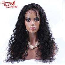 Brazilian Lace Front Human Hair Wigs With Baby Hair 10-24″ Nature Color 130% Density Remy Loose Wave Wig Sunny Queen