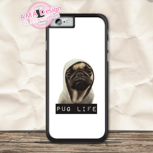 Pug Life Lovely Cute Dog Protective Case For iPhone X 8 7 6 6s Plus 5 5s SE 5c 4 4s For iPod Touch