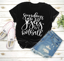 Christian T-Shirt  Sundays Are For Jesus And Football