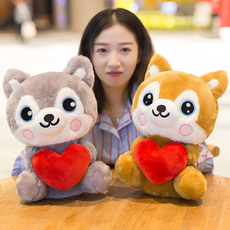 Stuffed animals plush kawaii soft husky puppy  doll gifts girlfriend gift children's birthday gift 2 color choose 25cm/35cm