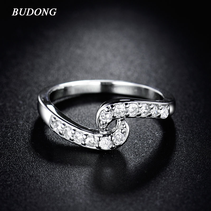 Budong 2016 engagement infinity rings bijoux women jewelry for Infinity ring jewelry store