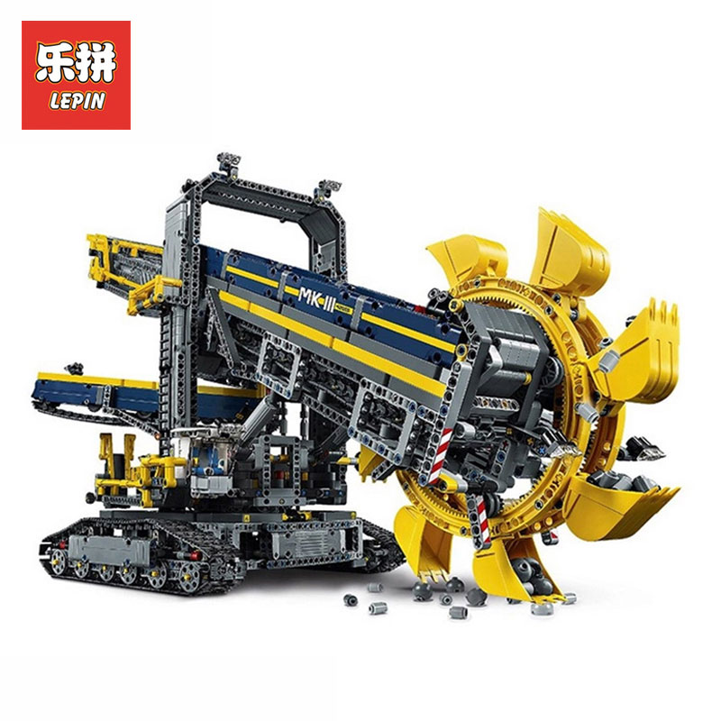 NEW LEPIN 20015 Technic series Bucket wheel excavator Model Building blocks Bricks Compatible LegoINGly 42055 Toy Christmas Gift 196pcs building blocks urban engineering team excavator modeling design