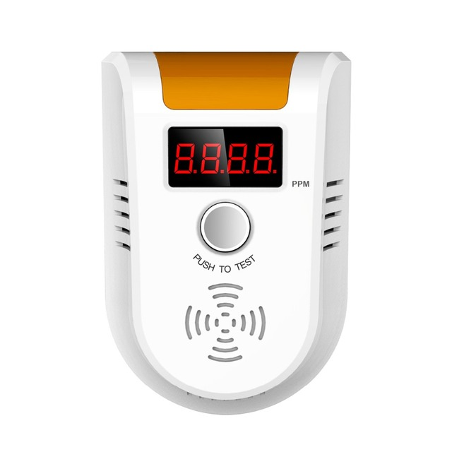 Fuers LPG GAS detector Digital LED Display Combustible Gas Detector Home Alarm System