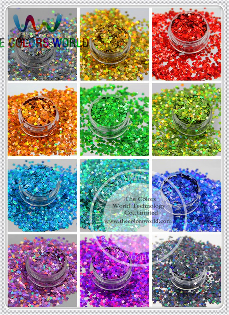Flower Shape 12 holographic sequins paillette for nail decoration and other art DIY decora Size : 3MM юбка other flower lolita b113