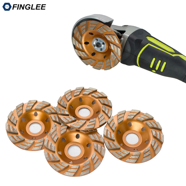 FINGLEE 4inch/100mm inner 22.23 mm Diamond Wheel Disc Bowl Grinding Cup Granite Polishing Tool Marble Tools for Stone,Concrete