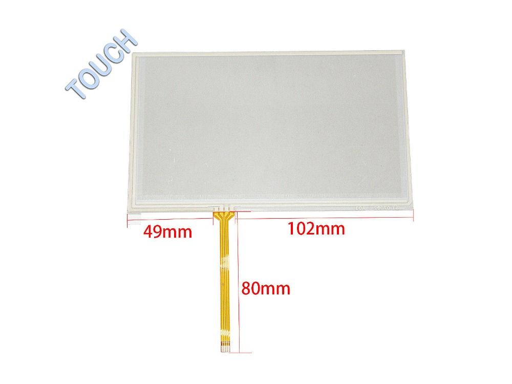 New 7 inch 4 Wire Resistive Touch Screen Panel Digitizer for GPS AT070TN90 164x99mm Screen touch panel Glass Free shipping wholesale new 4 3 inch touch screen panels for lms430hf18 lms430hf19 gps touch screen digitizer panel replacement free shipping