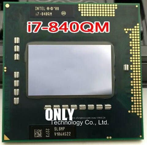 Original Intel CPU Processor Laptop Intel I7-840QM SLBMP I7 840QM 1.86G-3.2G/8M HM57 QM57 Chipset 820qm 920xm