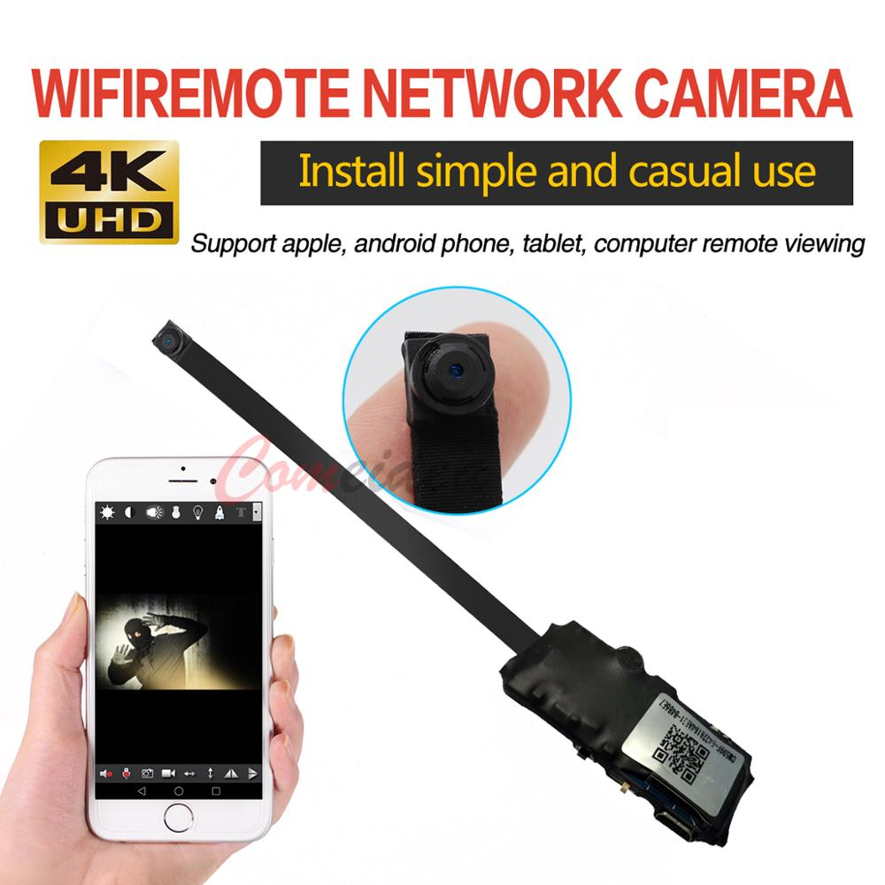 HD 4K Mini WiFi IP Camera Full HD DIY Mini Camera Module  Support Wireless Hotspot Motion Detection Support Remote View  TF Card
