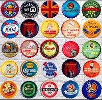 35 cm En Métal de Cru De Fer Ronde coke pour boire de la bière bouchon de la bouteille Vintage Inscrivez Tin Bar pub accueil Mur Décor Rétro En Métal Art affiche
