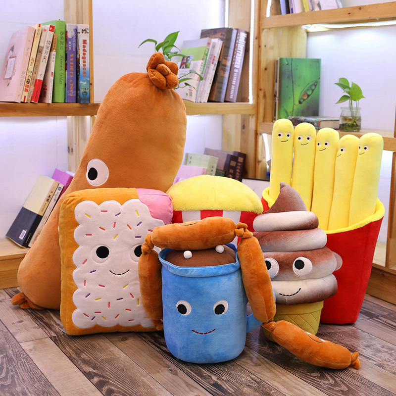 Simulation Creative Fast Food Pillow Sausage Hot Dog Plush Toy Cute Food Cushion Kawaii Soft Stuffed Super Quality Child Gifts