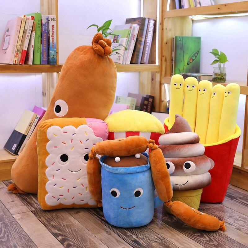 Simulation Creative Fast Food Pillow Sausage Hot Dog Plush Toy Cute Food Cushion Kawaii Soft Stuffed Super Quality Child Gifts
