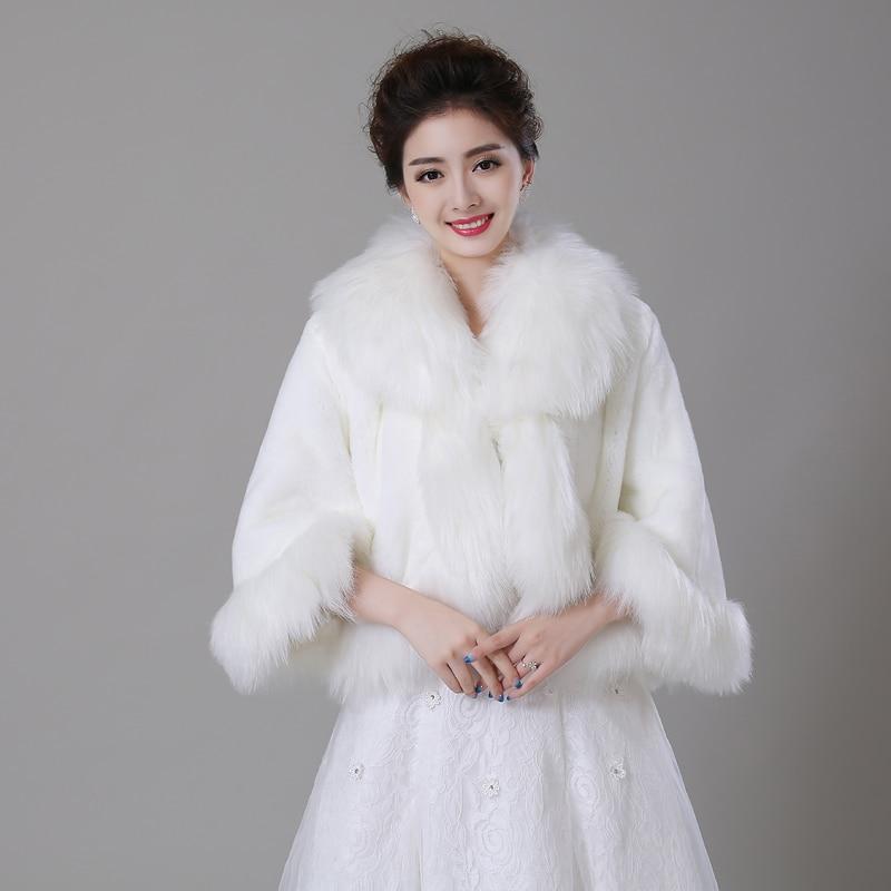 Ivory Faux Fur Winter Women Wedding Party Coat Cloak Long Sleeve Wedding  Dress Jacket Coat BridalOnline Buy Wholesale wedding dress jacket from China wedding dress  . Dress With Jacket For Wedding. Home Design Ideas
