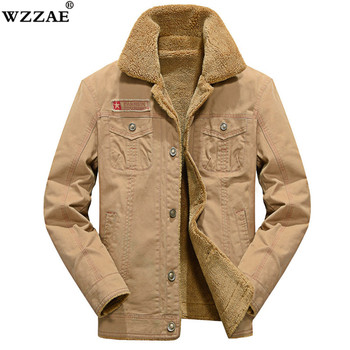M-5XL Men Jacket and Coats Brand Clothing Denim Jacket Fashion Mens Jeans Jacket Thick Warm Winter Outwear Male Cowboy