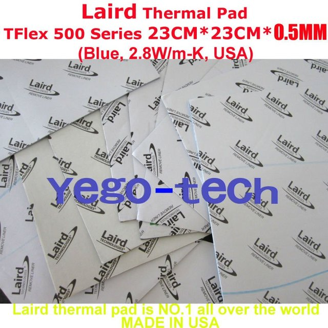 Original Thermal Silicon Pad For DELL, Laird Tflex 500 Series  23CM*23CM*0.5MM, Made In USA