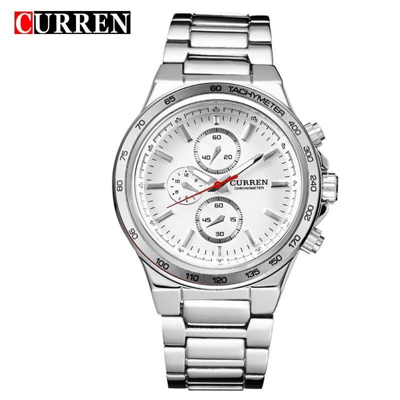 fec06c337d6 CURREN Homens Relógio de Quartzo Marca Maré Moda Casual Mesa Masculino 8011  Relógios De Luxo