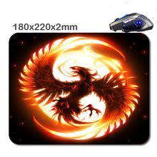 220*180*2 mm Print de feu tatouage Non-Slip Durable Computer Laptop Gaming Rubber soft Mouse Pad in As office Gift for player