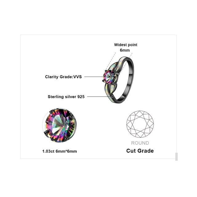 Mystic Quartz Created Opal Twisted Shank Ring