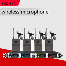 Wireless microphone system 8000GT3professional UHF channels dynamic microphone professional 4 karaoke microphone + latest concep freeboss fb u08 2 way 200 channels pll ir uhf wireless microphone with 2 handhelds for karoke ktv party uhf dynamic microphone