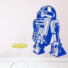 Art Design Star Wars robot Wall Sticker Quote R2 D2 Decal Vinyl Home Decor Kids Geek Gamer Removable Mural Bedroom wallpaper