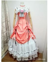 Frete grátis preto mordomo ciel phantomhive cosplay trajes feminino menina moda estilo vestido para presente festa de halloween