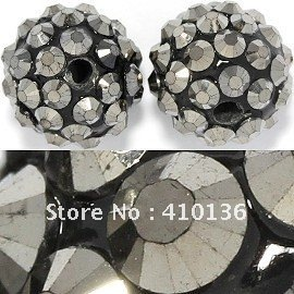 JP345 Hot Sale Shamballa Disc Beads 12*14mm Crystal Ball for Shamballa Bracelet and Earring New Arrival Free Shipping