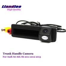Liandlee For Audi A6L 2011 Car Rear View Backup Parking Camera Rearview Reverse / Trunk Handle Integrated HD CCD CAM
