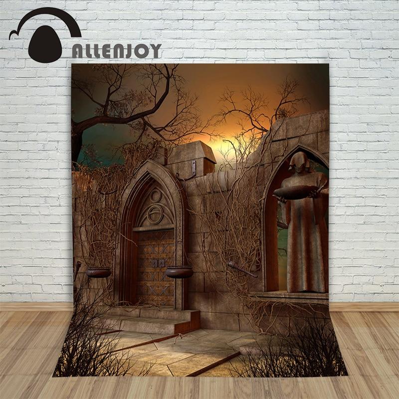 Vinyl photo studio background Halloween sun torch brick wall backdrops fotografia photographic paper недорого