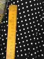Customized 150cm Width Stretch Knit Black Dots Chiffon Satin Silk Cotton Gauze Cloth Fabric Shirt Coat
