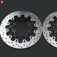 2PCS Front Floating Brake Disc Rotor motorcycle parts Aluminum  Brake Rotors for SUZUKI GSXR1000 K9 09-15 GSXR600/750 11-15 2pcs front floating brake disc rotor for honda cbr1100xx super blackbird 99 08 cb1100sf x 11 sc42 00 04 cb1300 sc401284cc 01 02